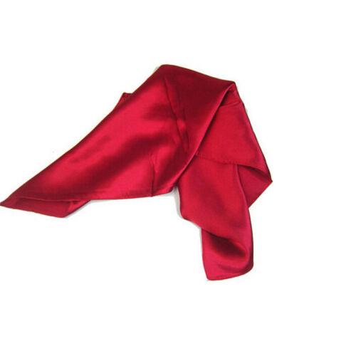 Donna donna piccola piazza raso seta sciarpa liscio sciarpa foulard fazzoleWQI