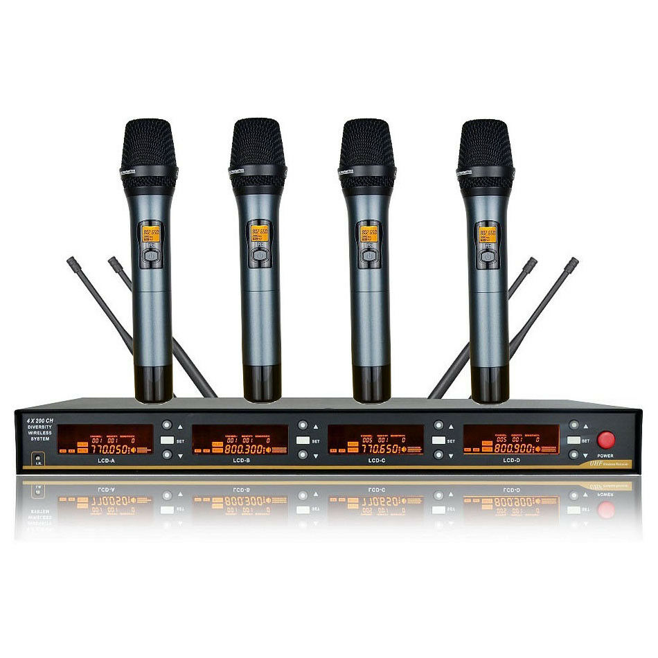 Wireless Vocal Microphone Karaoke System Professional Stage Handheld Microphone