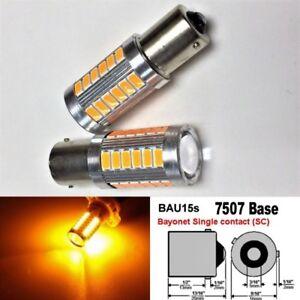Strobe Front Turn Signal 33 LED Bulb Blue T20 7440 w21w 992 B1 For GM BAU