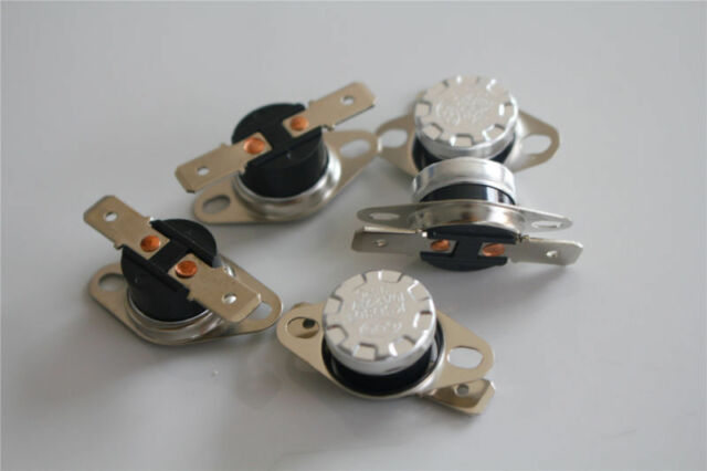 5 pcs Temperature Switch Control Sensor Thermal Thermostat 125°C N.C KSD301
