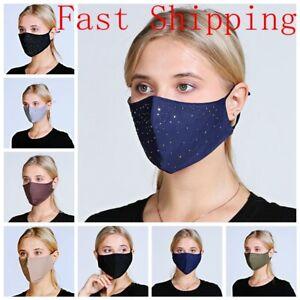 100% Cotton Fashion Face Mask Breathable Cloth Covering Reusable Washable Unisex