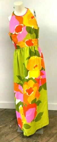 Vintage 1960's-70's Malia Honolulu Maxi Dress Sup… - image 1