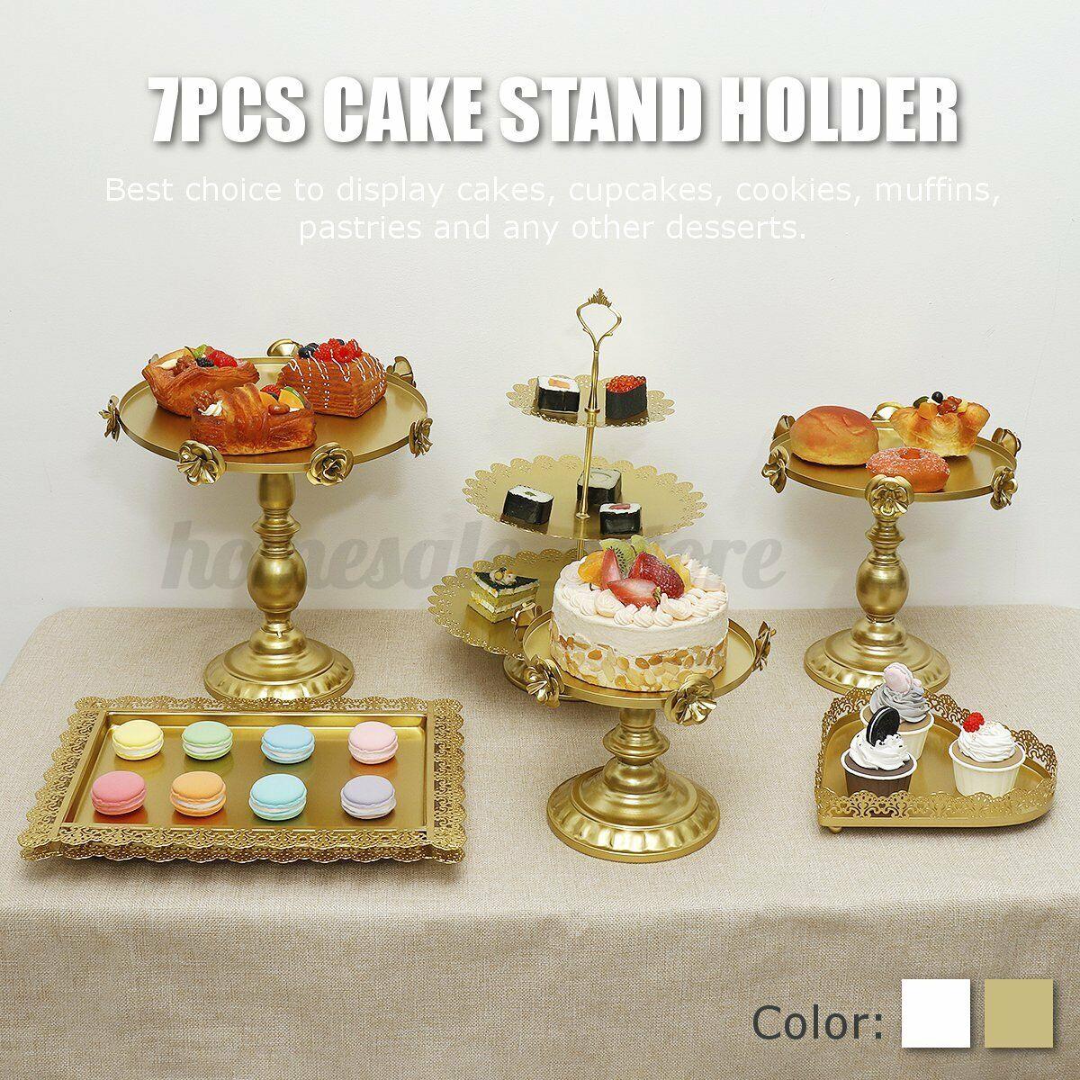 14pcs Gold Crystal Cake Cupcake Stand Display Dessert Holder Wedding Party Decor For Sale Online Ebay
