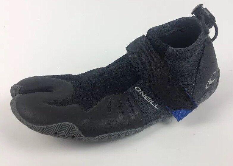 O'Neill Superfreak Tropisch 2mm 2mm 2mm Geteilte Zehen Schuhe Schwarz Größe 7 4124 2eb598