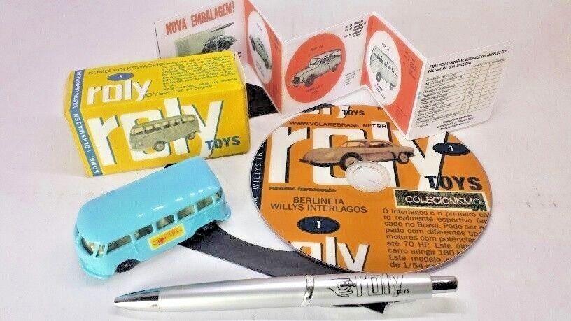 Volarebrasil 1/64 Reissue Roly Toys Pre inbrima Matchbox Marrón Volkswagen Vw Kombi