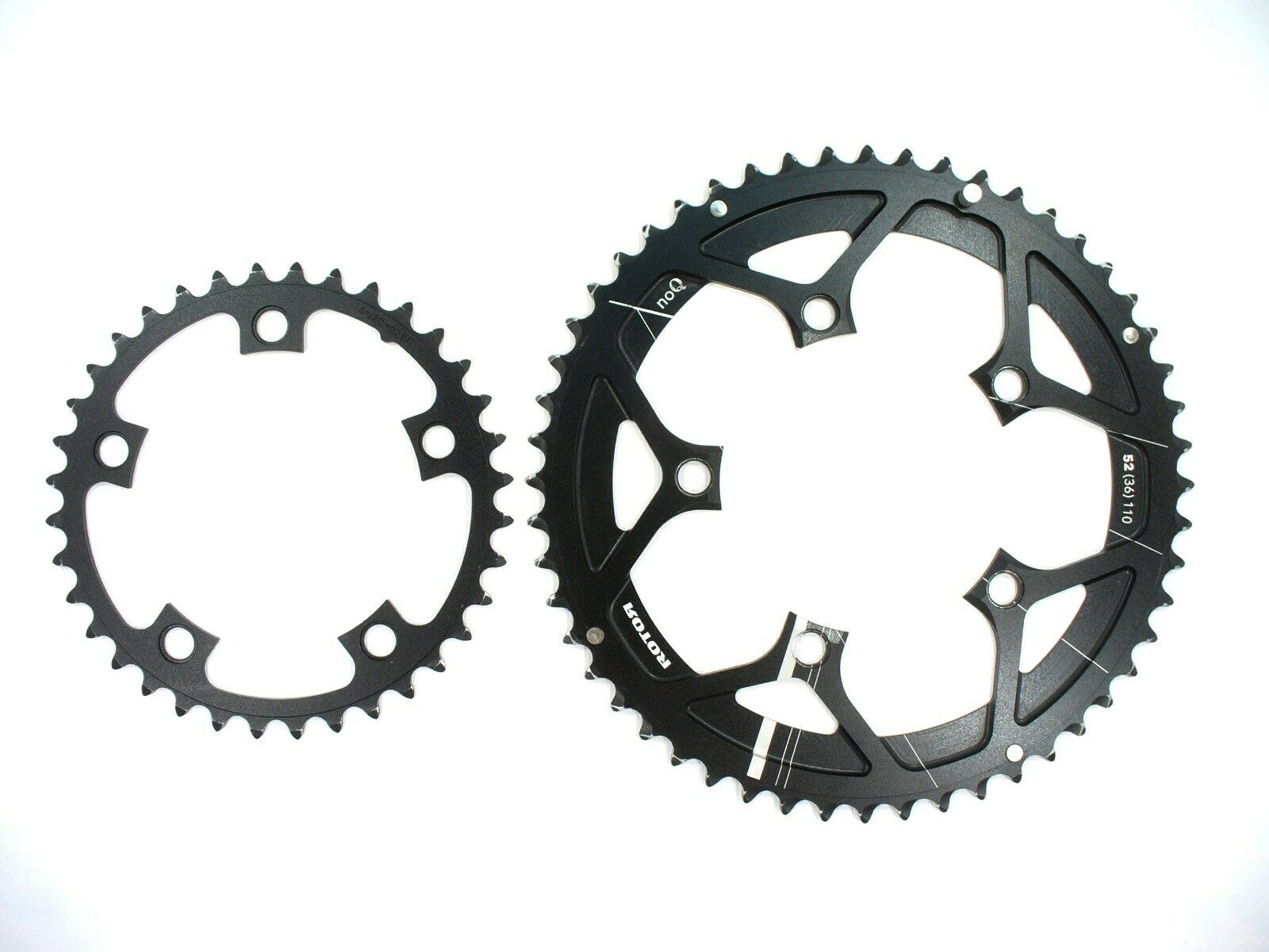 Rotor noQ 52t 36t Semi-Compact Road Racing Chainrings Sprocket set 10 11-speed