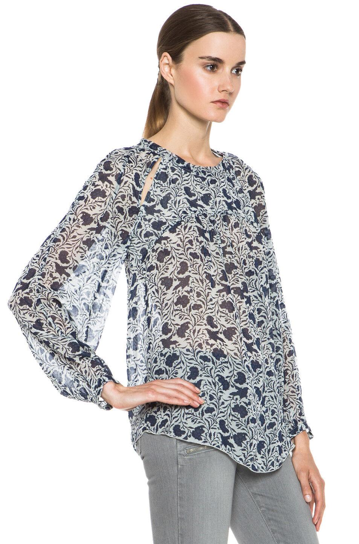 NWOT  ISABEL MARANT ETOILE  Dresley  Top Blouse SZ 40 Floral Bird Print