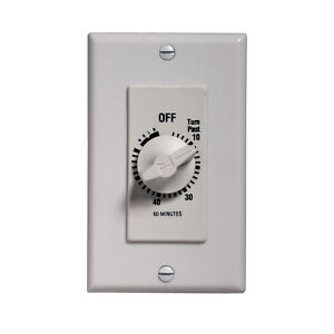 Broan 59w White 60 Minute Timer Switch Ebay