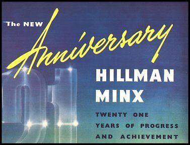 1953 1954 Rootes Hillman Minx Anniversary Brochure
