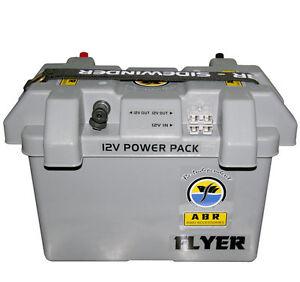 Battery-Power-Box-Portable-Fridge-Power-GREY-BOX-ANDERSON-PLUGS