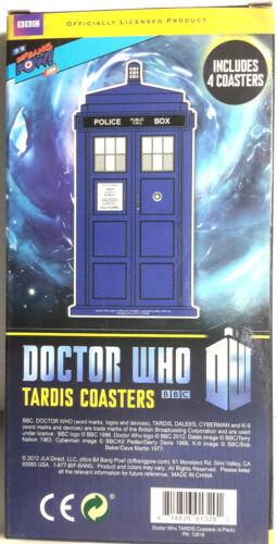 NEW UNUSED Doctor Who Tardis Image Coaster Set of 4 Bif Bang Pow