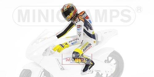 Pilota Riding Rossi Valencia 2003 Minichamps 312030186 1:12 Modellino