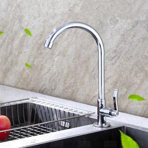 Details zu Hoch Bogen Wasserhahn Kaltwasser Spültisch Waschtisch  Waschbecken Küche Amatur
