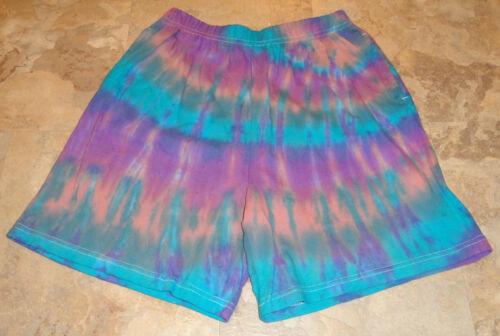 Tie Dye Dyed Womens Shorts Small Medium Large XL XXL Elastic Waist Side Pockets