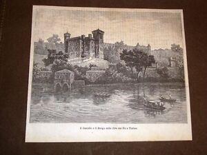 Rarissima-veduta-di-Torino-nel-1884-Il-Castello-ed-il-Borgo-sulle-rive-del-Po
