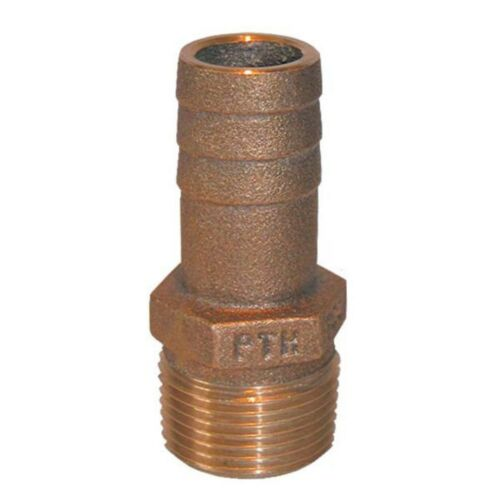 NPT-1 1//4 in 1 1//4 in NOSE-1 1//4 in Pipe to Hose Brn