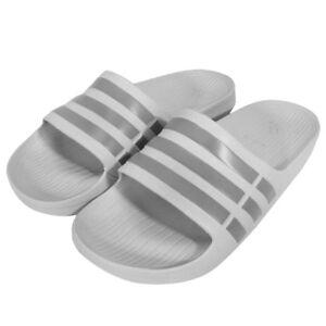 87e7196a2 Adidas Duramo Mens Slides Sandals Flip Flops Beach Wear Gray Size US ...