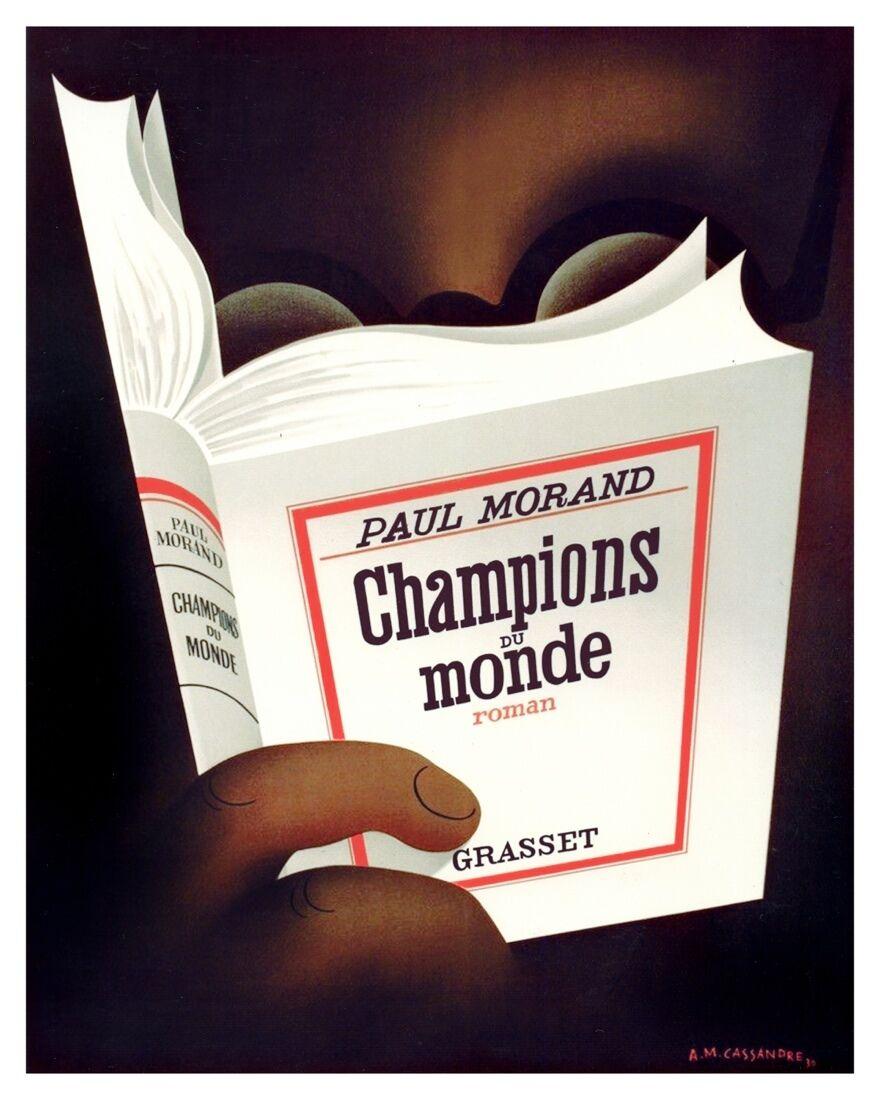 6710.Book.Paul Morand.champions du monde.man reading book.POSTER.art wall decor