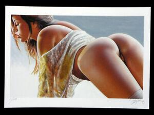 AKT NUDE Pin up EROTIK Bild EROTIC Print Art Kunst Grafik Graphic signiert,limit