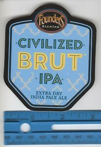 FOUNDERS-BREWING-CO-CIVILIZED-BRUT-IPA-STICKER-DECAL-3-034-X-3-1-2-034-SHIPS-FREE