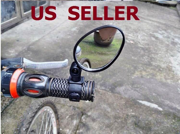 2-Pack Mini Rotaty Handlebar Glass Rear view Mirror for Road Bike Bicycle USA