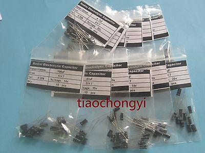 Kit 10value 1000pcs 4X7mm 0.1uF-100UF Electrolytic Capacitor Assortment new