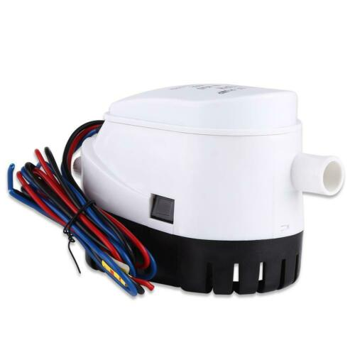 Marine Automatische Lenzpumpe Bilgepumpe 750GPH 12V Mini Yacht /&Schalter Durable