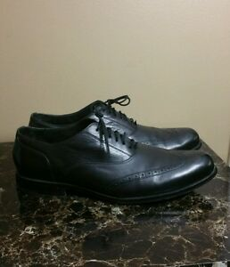 Cole Haan Nike Air Men s Dress Wing Tip Shoes Black Leather Size ... 86cd61f78