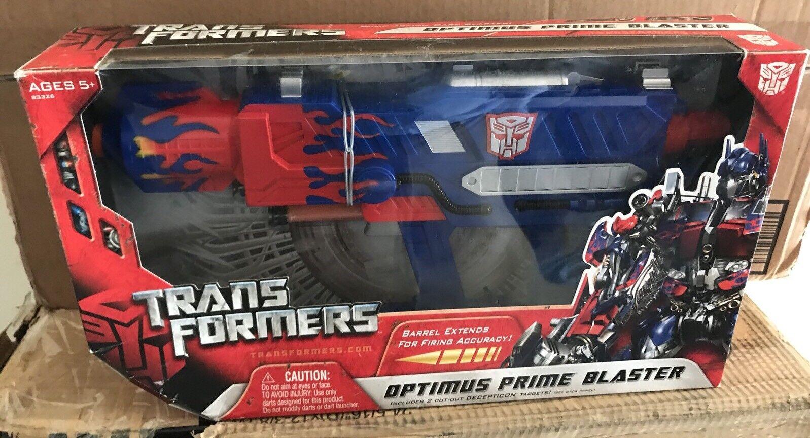 TRANSFORMERS Movie Role Play Optimus Prime Blaster MIB 100% Comp. 2007