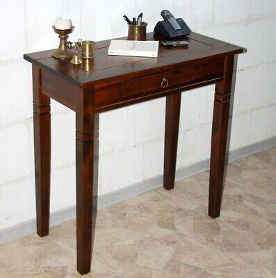 Utile Legno Massiccio Tavolo Console Coloniale Tavolino Corridoio Telefono Tavolo Marrone Nußbaum- Dolorante