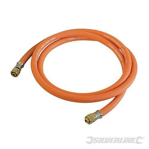 Silverline Gas Hose With Connectors 5 Metre HP522597 gas torches and regulators
