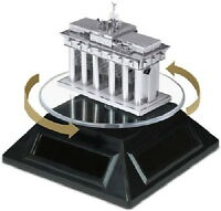 Fascinations Solar Powered Acrylic Spinner Display Stand For Toy Models,