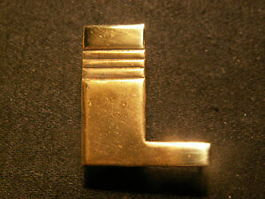 Monogramme Metal Lettre Initiale Maroquinerie Bagage Art Deco Laiton Doré Neuf L Nufmd8tf-07223806-199293508