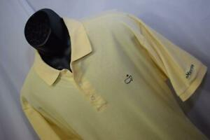 28317-Mens-Masters-Augusta-Georgia-National-Yellow-Golf-Polo-Shirt-Size-Large