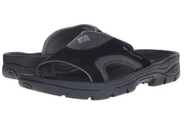 New Mens Columbia  Tango Slide  Leather Techlite Lightweight Omni-Grip Sandal