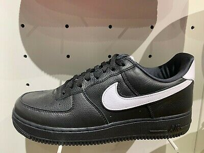 Nike Air Force 1 Low QS Black White Leather Size 8 13 New CQ0492 001   eBay