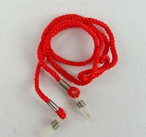 Brillenband-Brillenkordel-Brillenkette-Nylon-rot-Brillenbaender-Ose-transparent