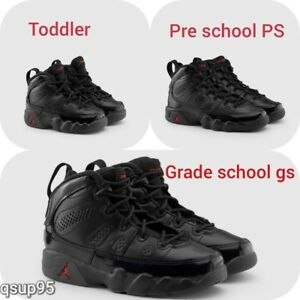 new product 56f21 ee1ce Details about NIKE Air Jordan Retro 9 IX Bred Black Red GS PS TD Baby Kid  Women Size 1C-7Y