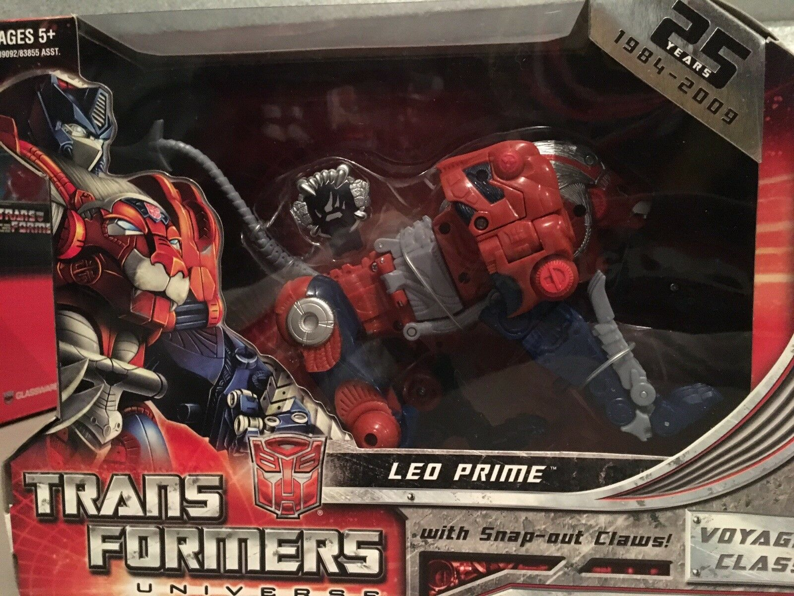 TRANSFORMERS UNIVERSE 25th Anniversary Voyager Class LEO PRIME*Brand Nuovo