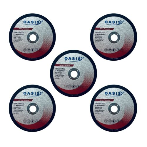 5 Pack OASIS Cut Off Wheels 6 Inch Grinder Cutting Disc Metal Cutting Wheels 6/""