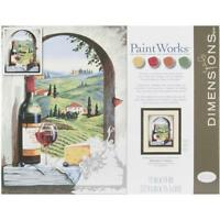 Dimensions Paint By Number Craft Kit, Tuscan View, New, Free Shipping