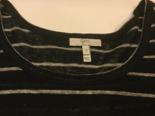 Striped Sz 180 Joie Tan Black Maglione Knit Soft Msrp Small Thin xYIw6p