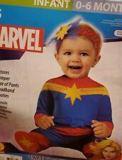 Captain Marvel Halloween Costume Baby 6 12 Months Rubies Jumper Pants Bootie For Sale Online Ebay Long before carol danvers assumed the title of captain marvel, she was ms. captain marvel halloween costume baby 6