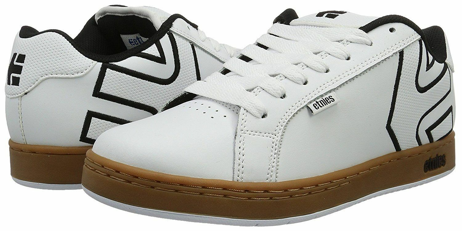ETNIES FADER LOW SKATEBOARD SNEAKERS Uomo SHOES WHITE 4101000203-104 SIZE 12 NEW