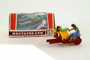 Britains 9552; Farm Implement, Transplanter; Red & Yellow; Very Good Boxed