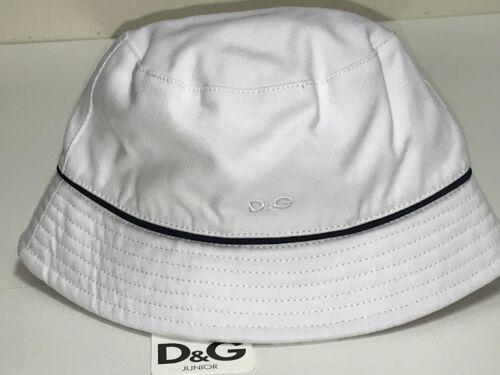 6-12m RTL D/&G New Kids Boys Baby LOGO FISHERMAN HAT CAP w// TRIM  Sz $50 Q342