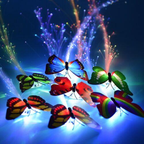 2stk LED Haar blinkt bunten Schmetterling Clip Braid Haarnadel glühen Mädchen