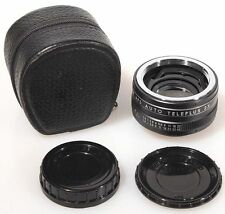 2X TELE CONVERTER FOR PENTAX SCREW W/ FRONT   REAR CAPS