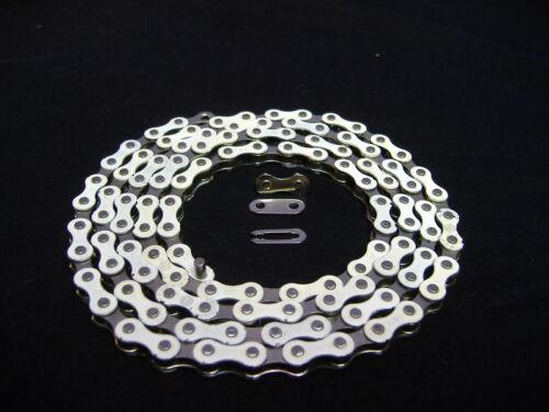 WHITE /& CHROME 1//2 X 1//8-112 CHAIN LOW RIDER BICYCLE