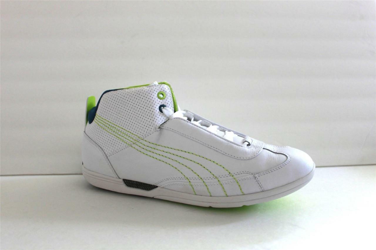 Puma Men's shoes Sneaker Athletic White Full Grain Leather Size 11 M NIB